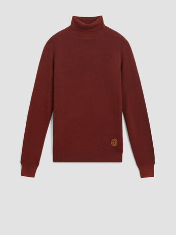 Regular fit pullover in a cashmere and wool blend