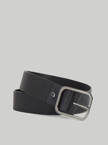 Cinturon Turati Jeans de piel en color liso