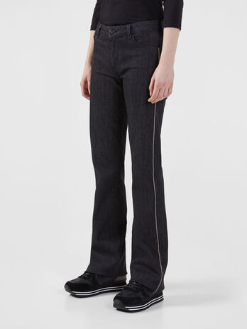 Flared 206 jeans in black Nevada denim