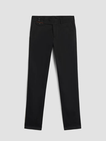 Aviator fit cotton gabardine trousers