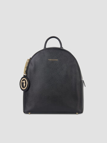 Medium Mosca backpack in faux saffiano leather