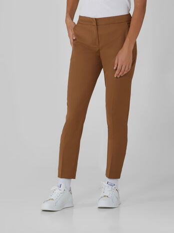 Cropped woollen trousers