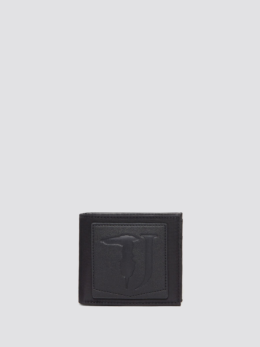 Ticinese wallet with logoed patch