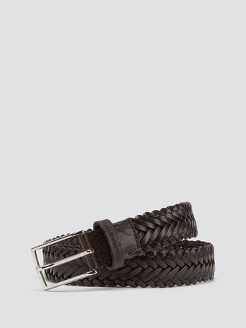 Woven Crespo leather belt