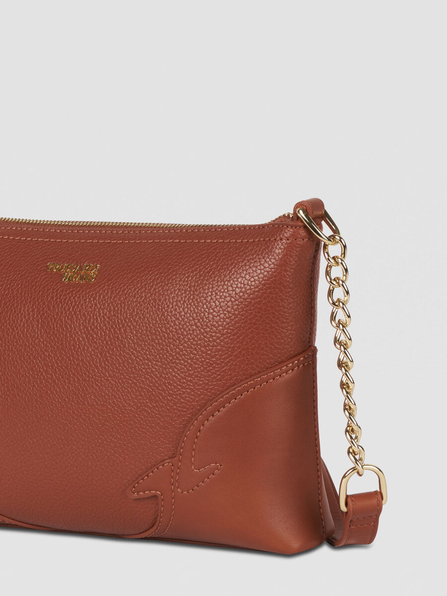 Deco Edge tote bag in faux leather