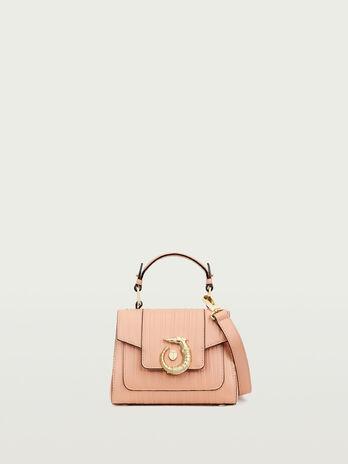 Mini Lovy Bag aus Kalbsleder Tresor mit Streifentextur