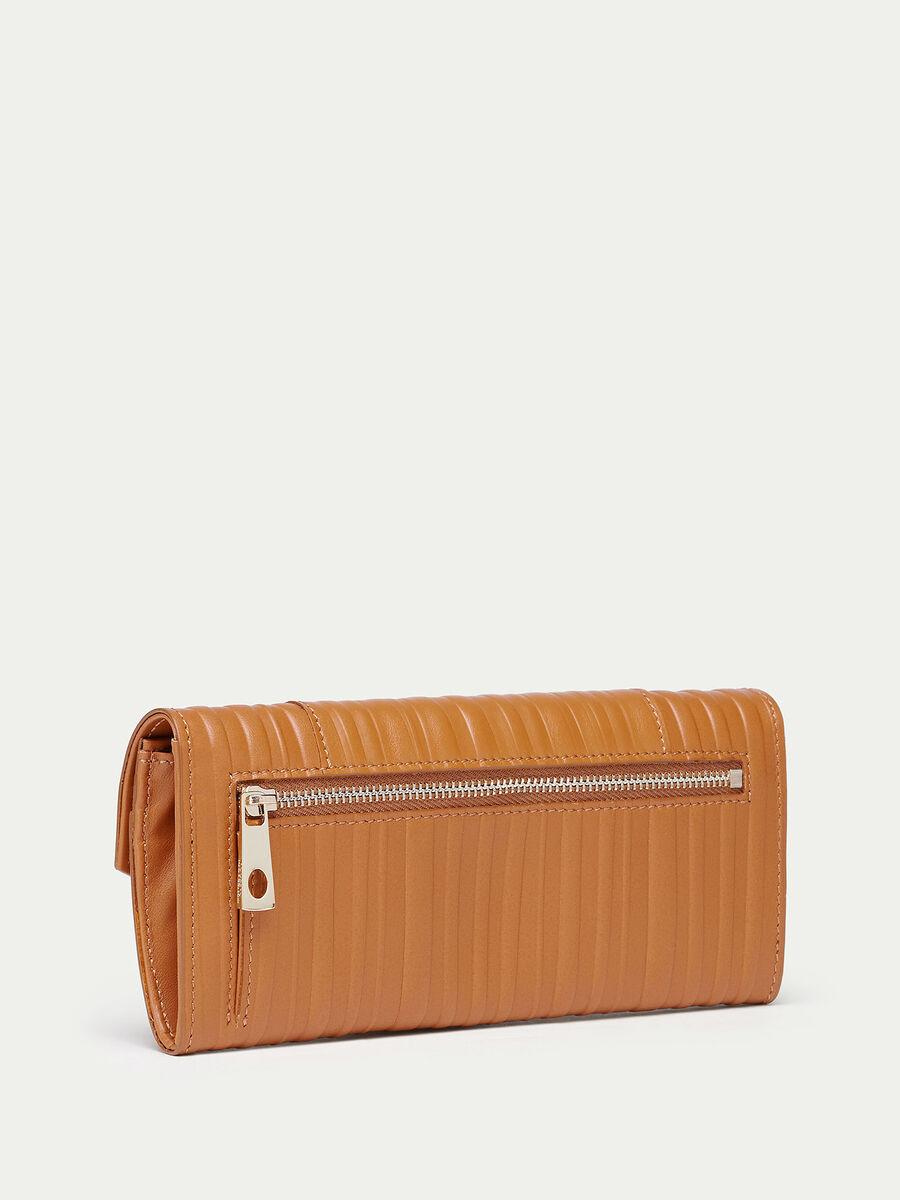Striped Lovy leather wallet