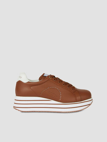 Leather Erika sneakers with platform