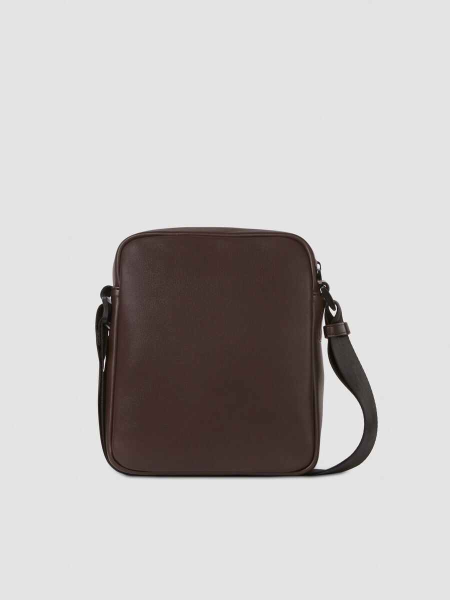 Medium Courmayeur reporter bag in smooth faux leather