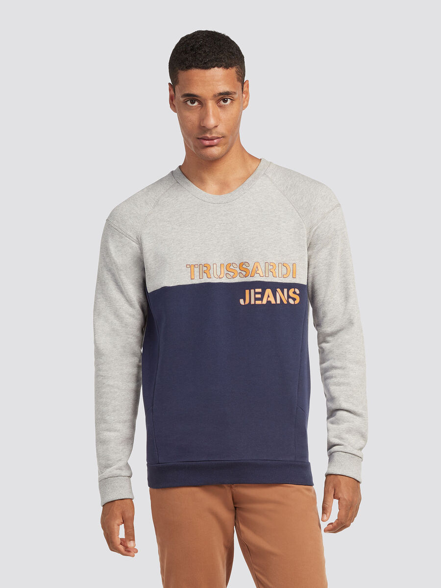 Sweat shirt a manches raglan et insertion