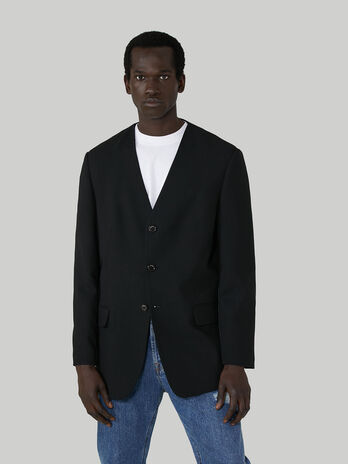 V-neck blazer in pure wool