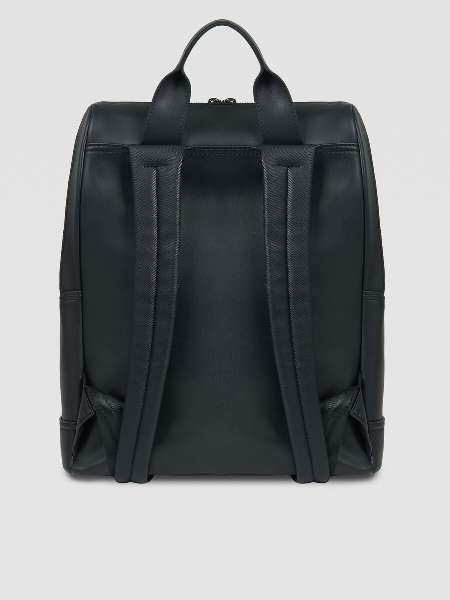 Medium Business City backpack in faux leather