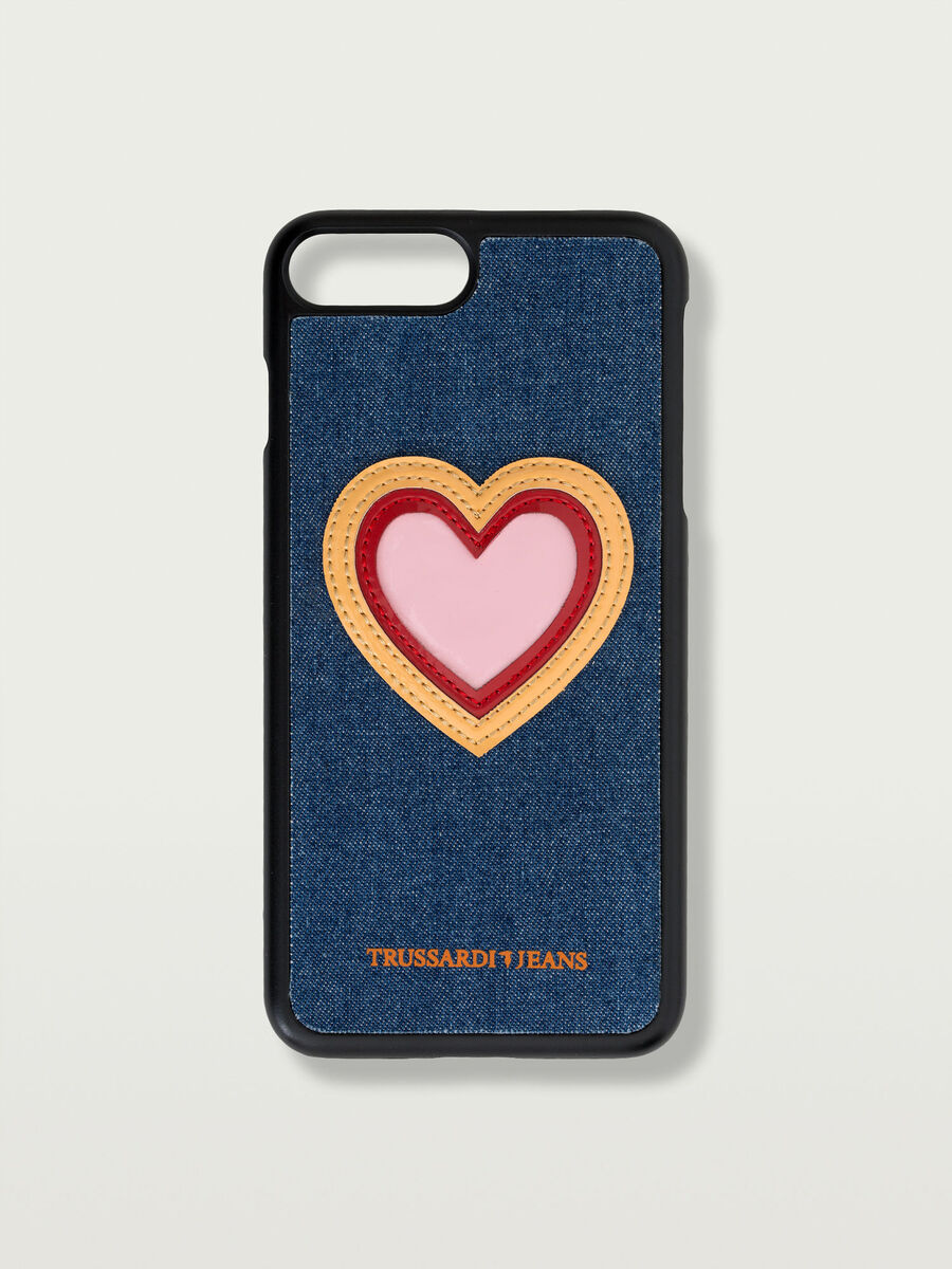 Cover iPhone 7 Plus rigida patch a cuore