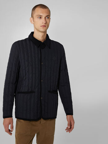 Quilted soft memory fabric jacket