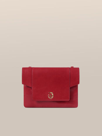 Medium New Lovy clutch in Athene leather