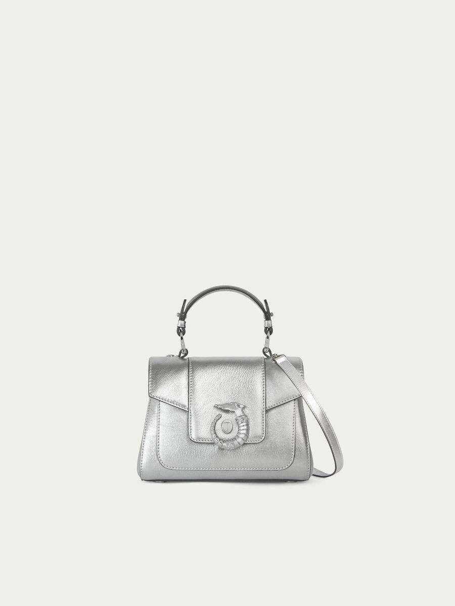 Mini Icon Lovy trunk bag in laminated leather Levriero
