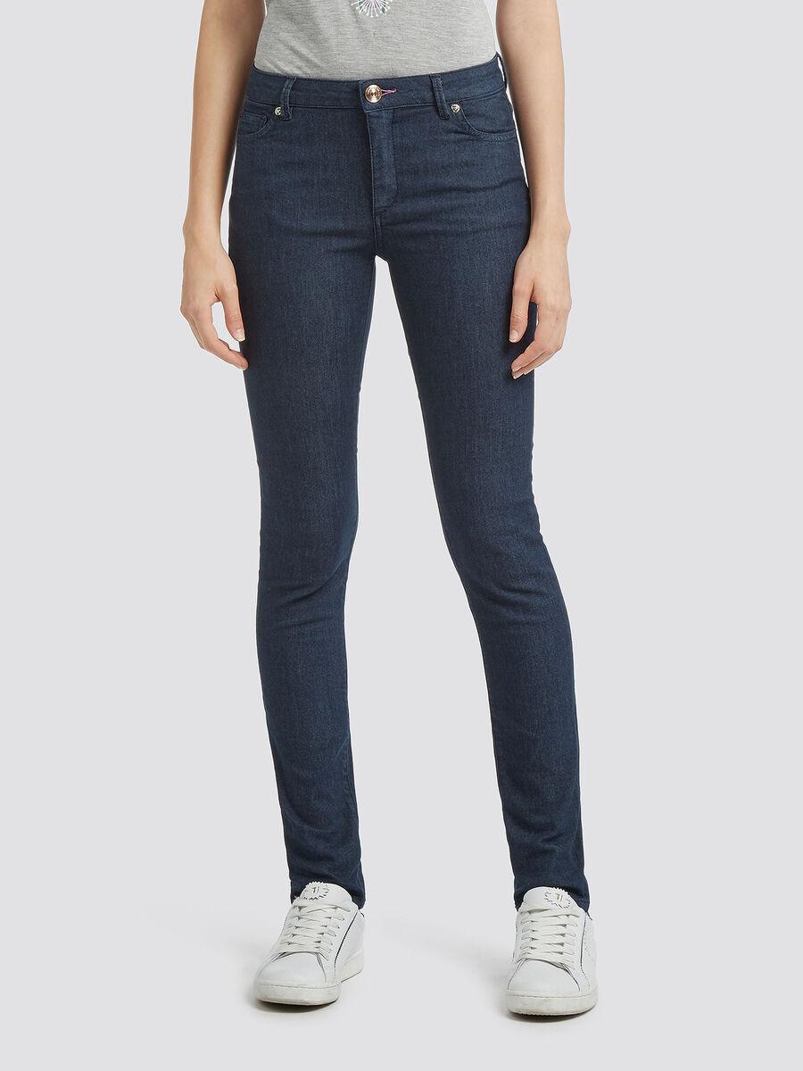 Jeans up Fifteen mit Rinsed Waschung und Strass