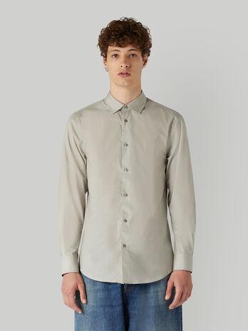 Camisa de corte regular con estampado geometrico