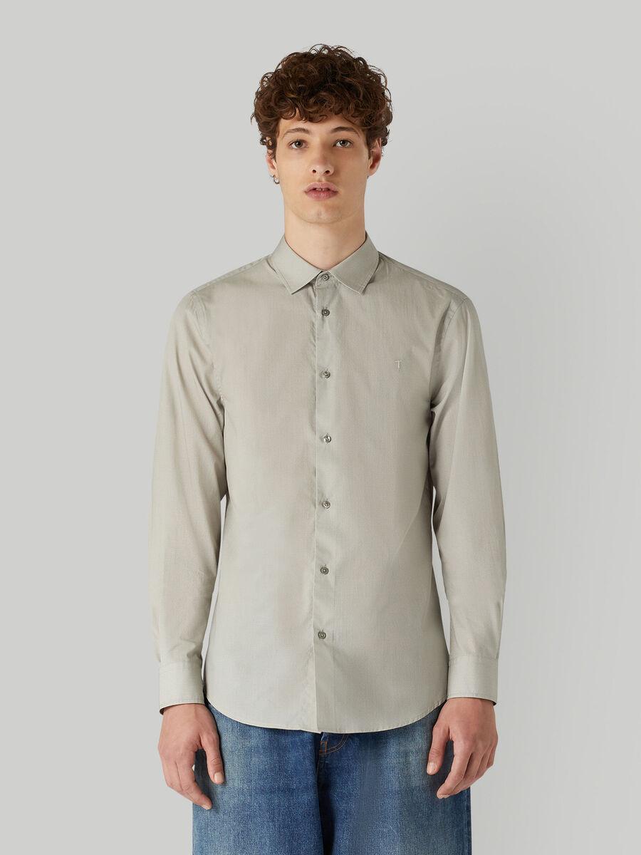 Regular-fit shirt with geometric print