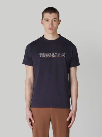 Regular-fit jersey T-shirt with lettering print