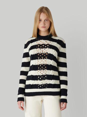 Regular-fit wool-blend knit pullover