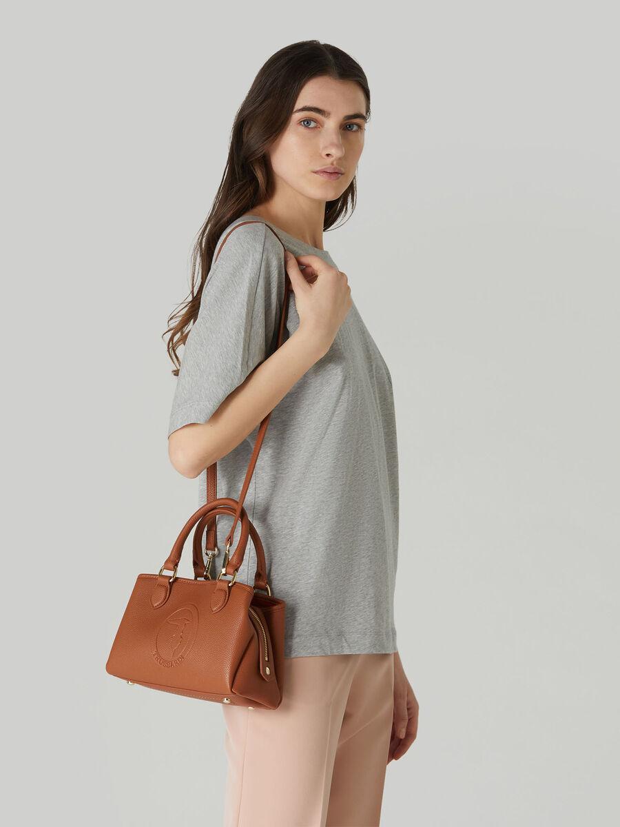 Small Iris tote bag with deerskin print