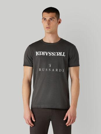 T-shirt in cotone stile vintage