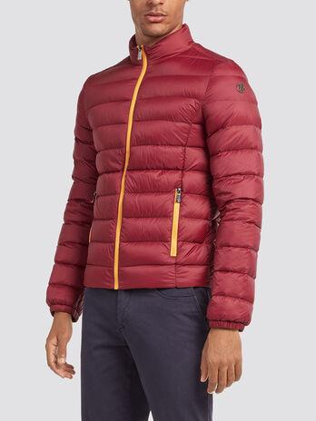 Slim fit down jacket in ultra light nylon
