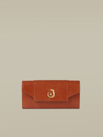 Leather Lovy continental purse