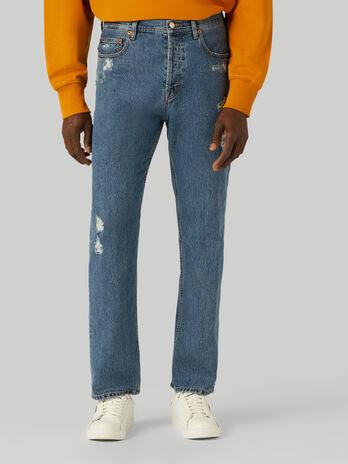 90s loose-fit jeans in Jean denim