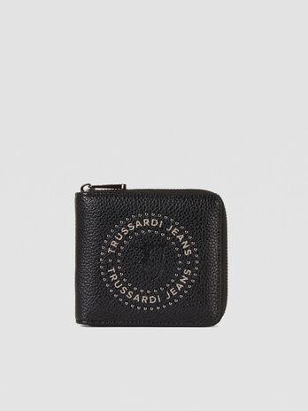 Portafoglio Harper medium in similpelle con zip