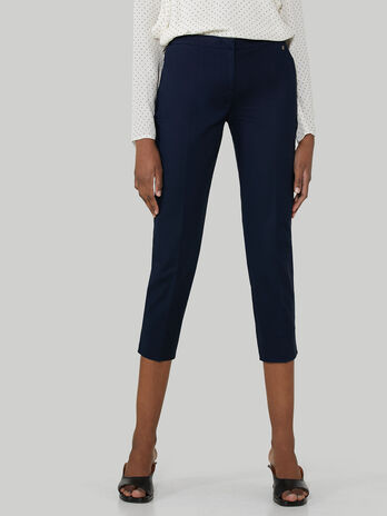 Pantalon cropped de algodon doble