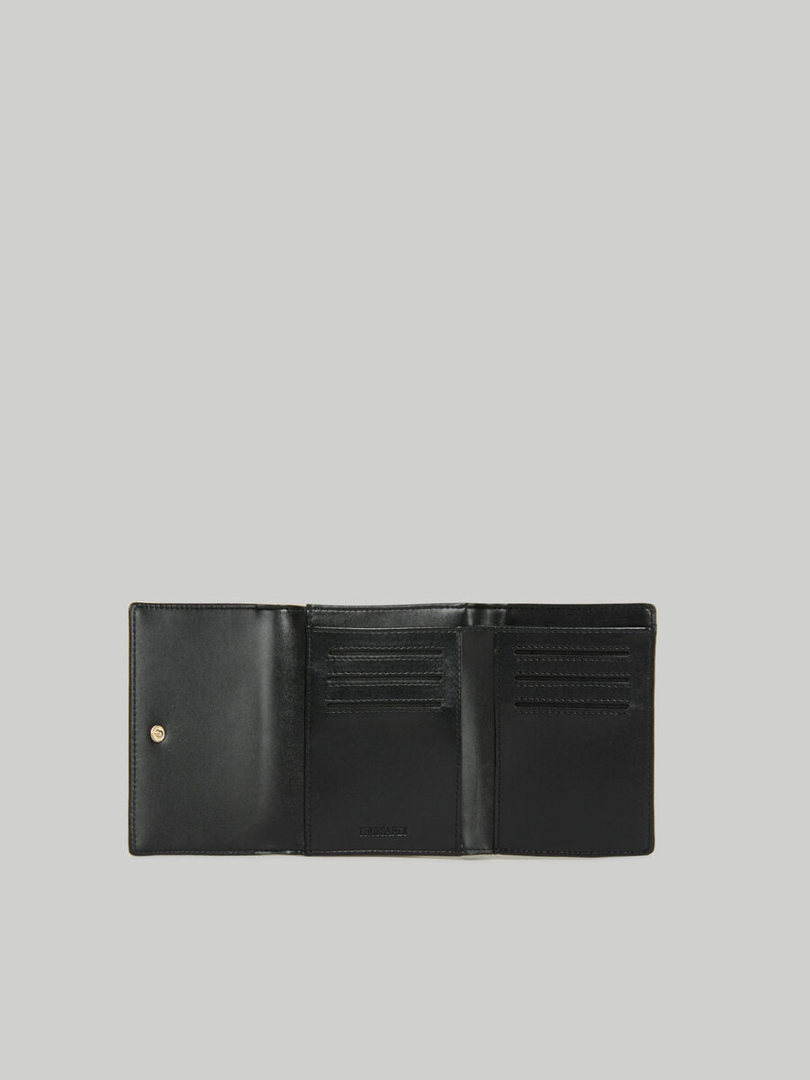 Faux leather Lily trifold purse
