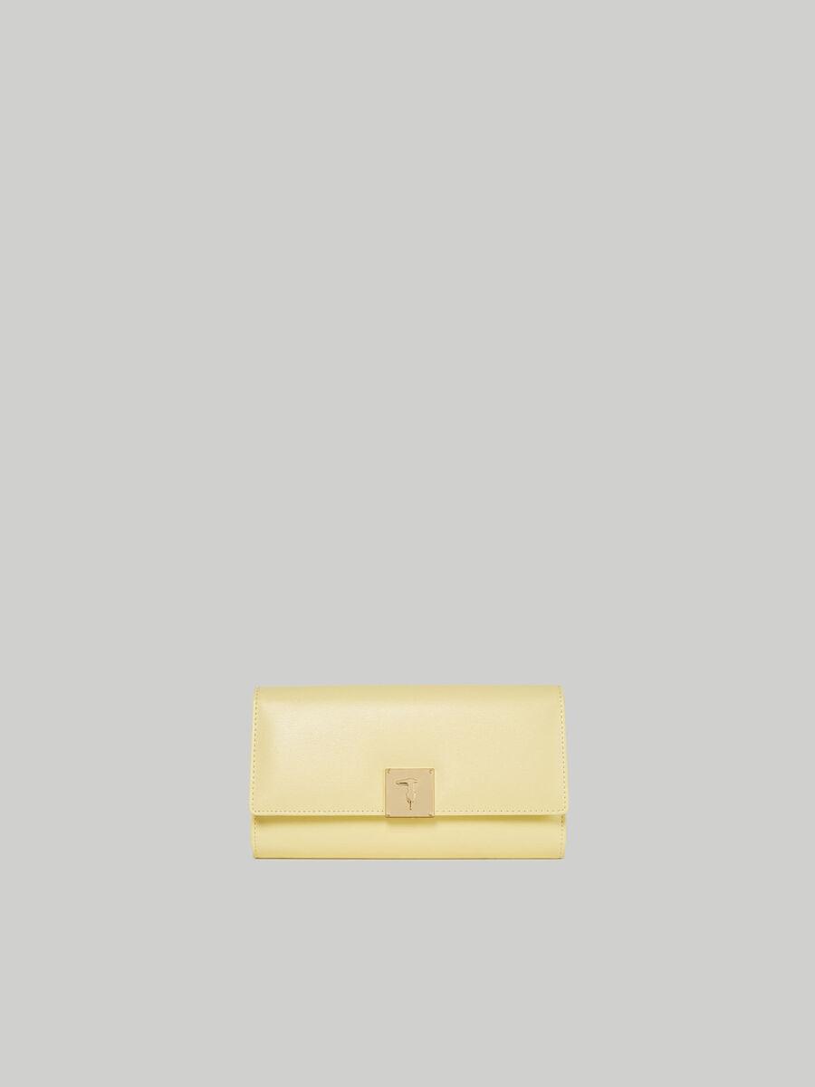 Large faux leather Lione continental purse