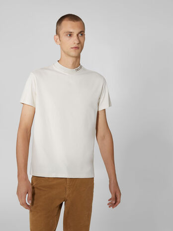 Boxy oversized solid colour cotton T-shirt