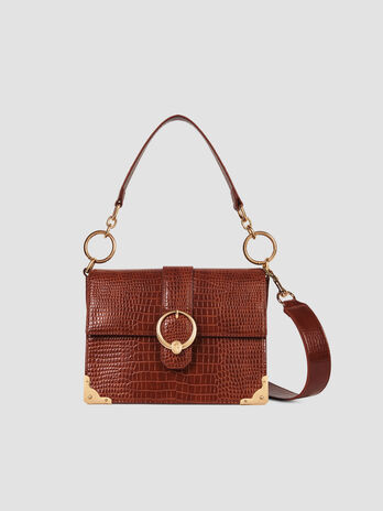 Cross-body medium Miami in similpelle stampa cocco