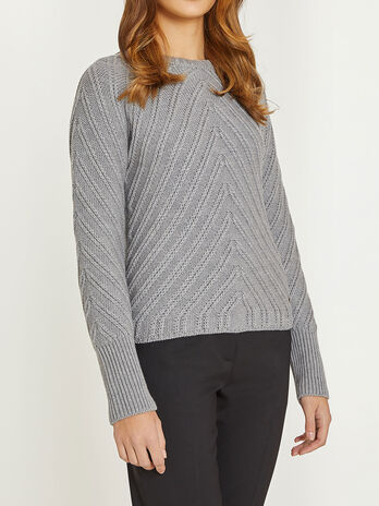 Wool round neck sweater