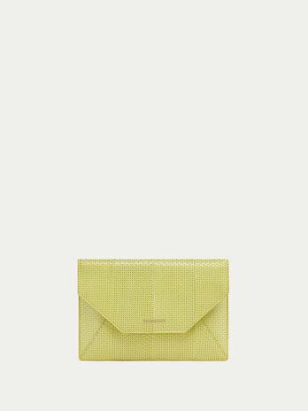 Openwork elaphe envelope clutch