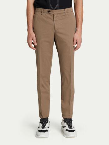 49a5e386c7f Pantalones tenidos de color liso y bolsillos de ribete