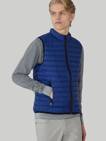 Quilted light nylon gilet with zip