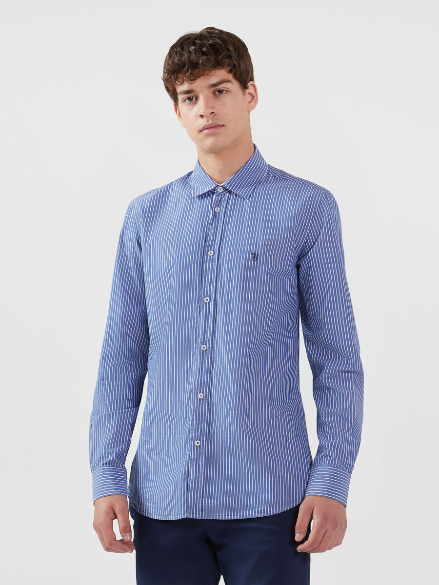 Close fit cotton shirt with Miami collar