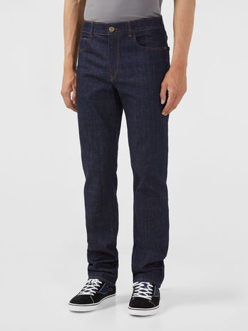 Icon 380 jeans in blue stretch denim
