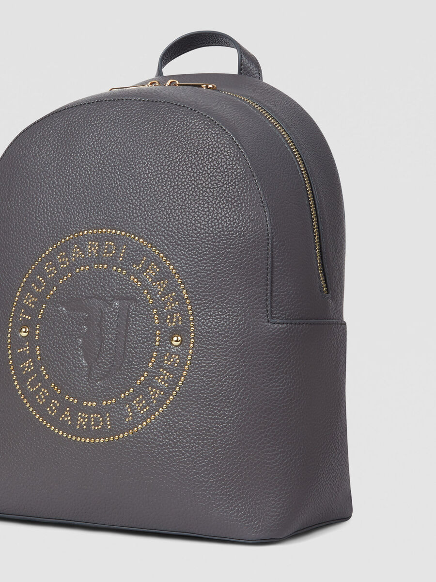 Medium faux leather Harper backpack with studs