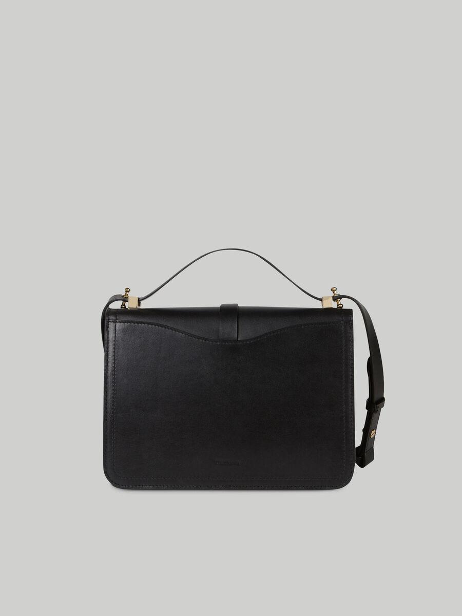 Medium leather Leila crossbody bag