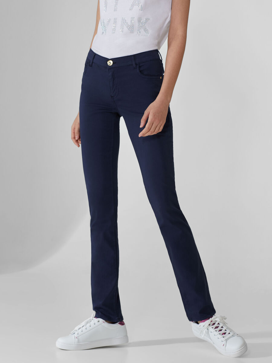 Classic 130 jeans in cotton satin