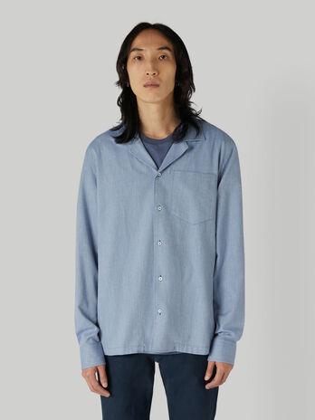 Hemd im Boxy-Fit aus Baumwolle mit Brusttasche