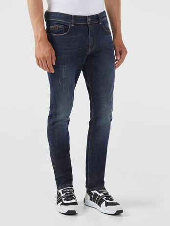 Jeans 370 extra slim in denim Calvin blu