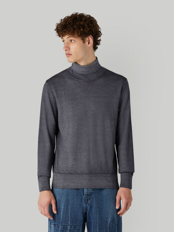 Regular-fit pullover in vintage-style wool