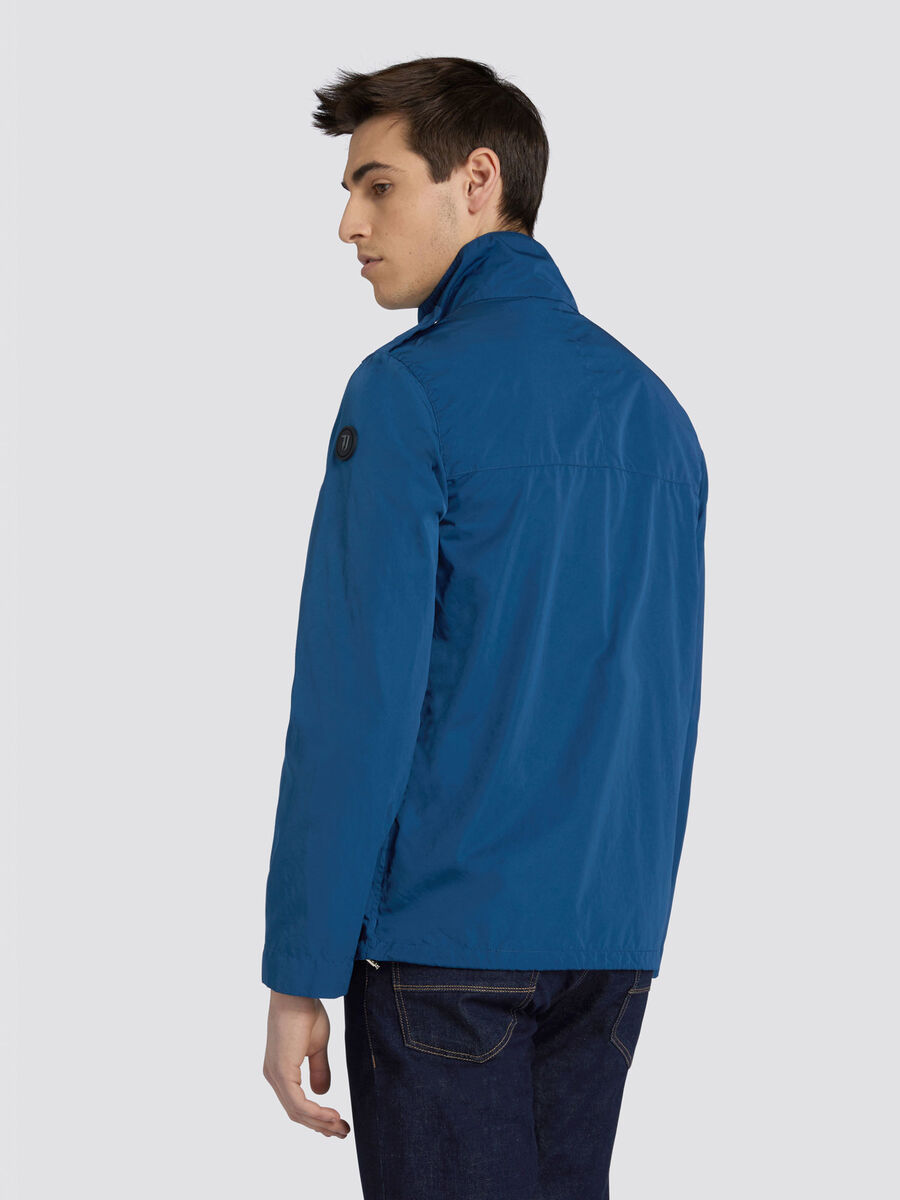 Regular fit jacket in soft matte nylon with hood