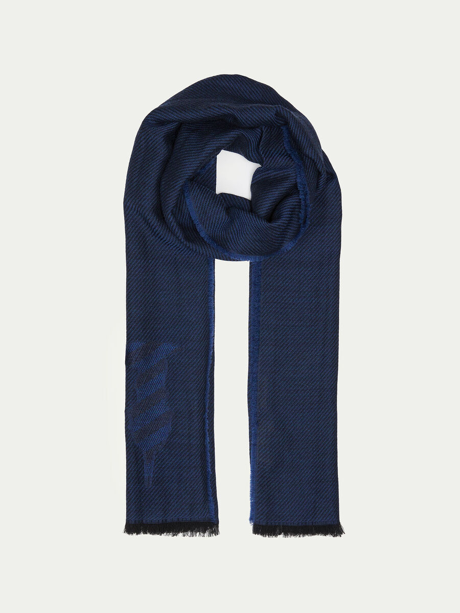 Geometric Monogram scarf